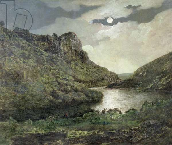 High Tor, Matlock (oil on canvas)