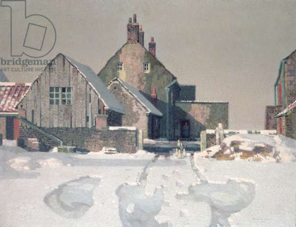 Gateford Farm in Snow, 1936 (oil on canvas)