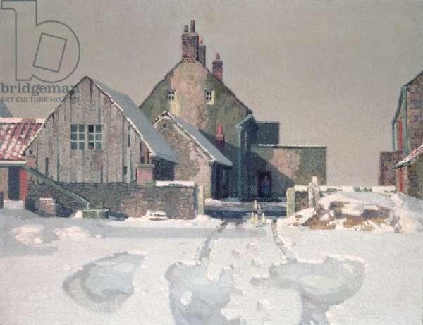 Gateford Farm in Snow, 1936 (oil on canvas)