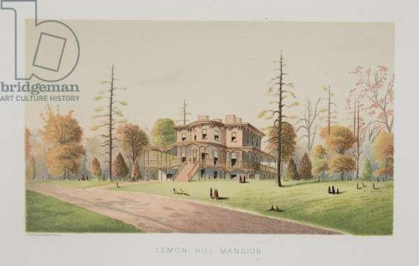 Lemon Hill Mansion, c.1871 (chromolitho)