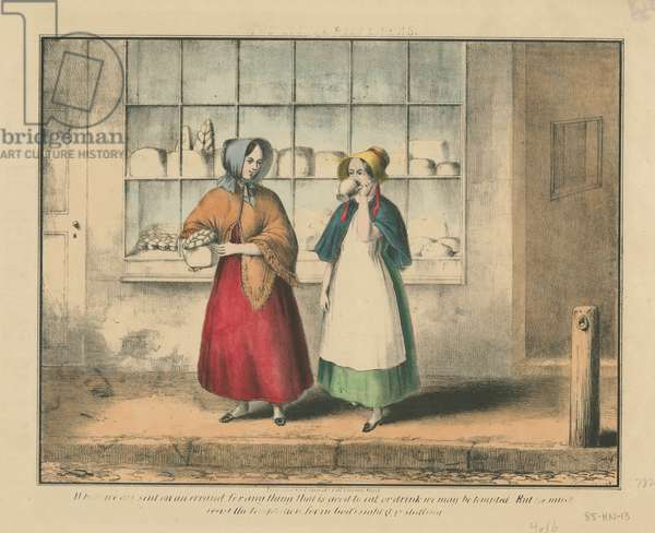 The little pilferers, c.1850 (hand-coloured litho)