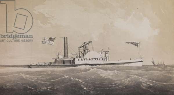 Steam Tug Atlantic, c.1860 (litho)