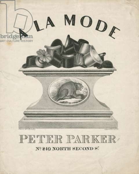 Peter Parker, No. 249 North Second St., Philadelphia, printed by Lehman & Duval Lithrs., c.1836 (litho)