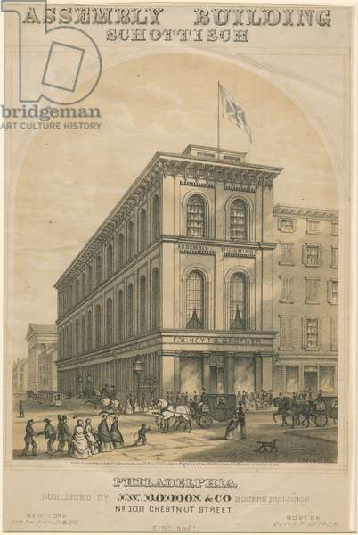 Assembly Building Schottisch, c.1852 (stone tinted litho, mounted on paper)