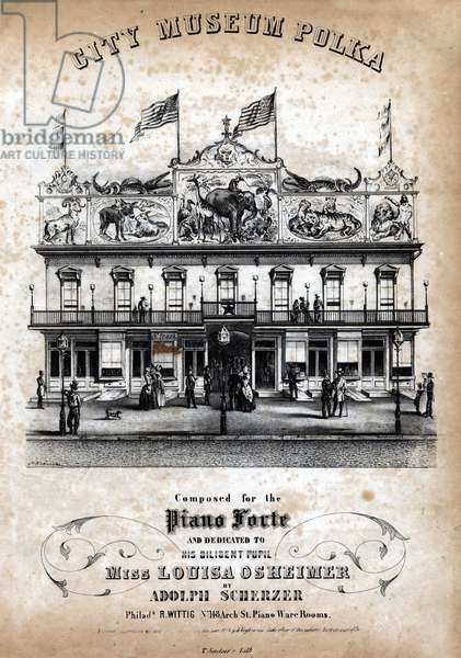 City Museum polka, c.1854 (litho)
