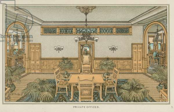 Private Offices, F.A. Poth Brewing Company, Philadelphia, c.1891 (chromolitho)
