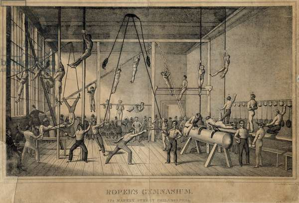 Roper's Gymnasium, 274 Market Street, Philadelphia, printed by Childs & Inman, c.1831 (litho)