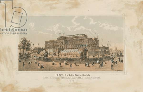 Horticultural Hall, Views of Centennial Exhibition buildings, c.1876 (stone tinted litho)