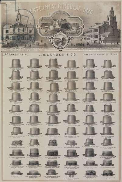 Cover of the 'Centennial Circular 1876', 1876 (litho)