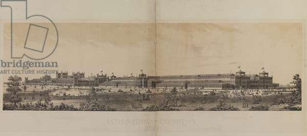 Main Exhibition Building, Centennial International Exhibition of 1876, c.1876 (photolitho)