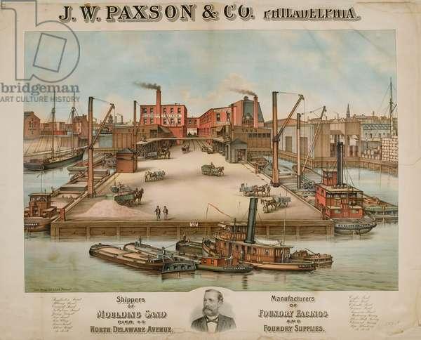 J.W. Paxson & Co. Philadelphia, c.1885 (chromolitho)