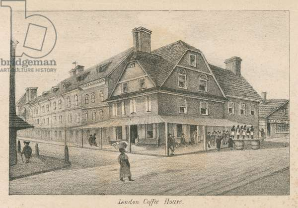 London Coffee House, printed by Kennedy & Lucas's Lithography, 1830 (litho)