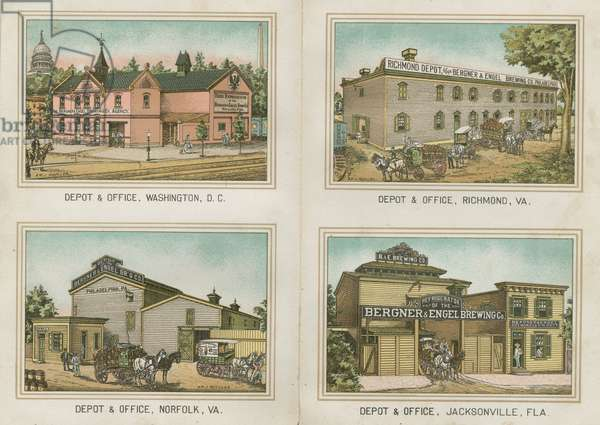 The Bergner & Engel Brewing Co., Philadelphia, c.1890 (chromolithograph)
