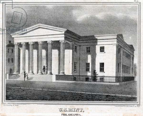 U. S. Mint, Philadelphia, printed by Wild & Chevalier, c.1838 (litho)