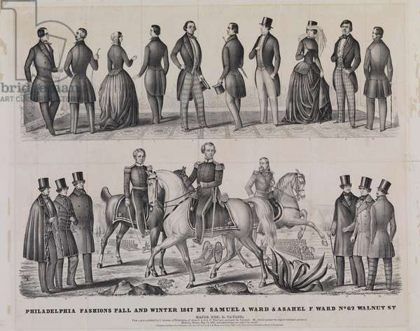 Philadelphia Fashions Fall and Winter 1847 by Samuel A. Ward and Asahel F. Ward, printed by Thomas S. Sinclair, 1847 (litho)