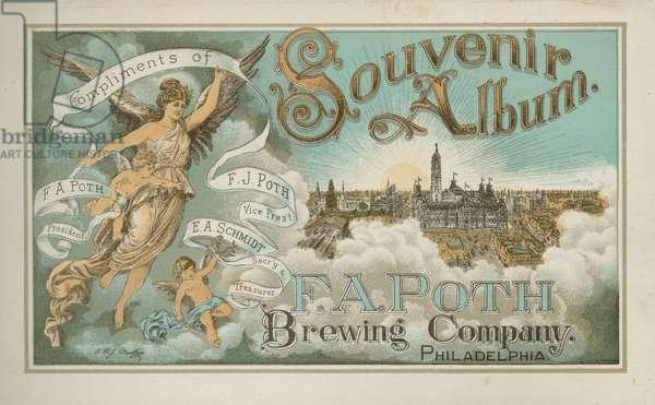 Title page, F.A. Poth Brewing Company, Philadelphia, c.1891 (chromolitho)