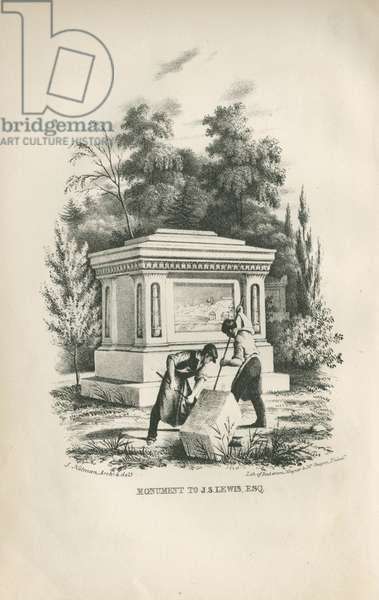 Monument to J.S. Lewis, Esq., 1844 (litho)