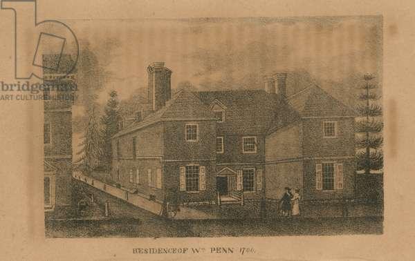 Residence of Wm. Penn 1700, printed by Kennedy & Lucas, 1833 (litho)