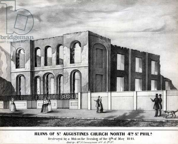 Ruins of St. Augustines Church North 4th Street Phila., 1844 (litho)