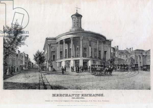 Merchants' Exchange, Philadelphia, printed by John T. Bowen (c.1801-1856), c.1840 (litho)