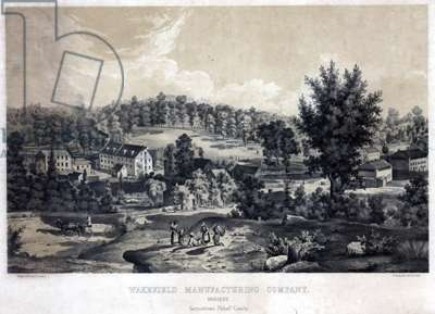 Wakefield Manufacturing Company, Hosiery, Germantown, Philada. County, printed by Peter S. Duval (1804-86), c.1850 (litho tinted with one stone)