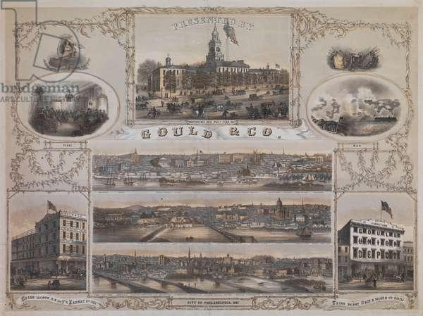 City of Philadelphia, 1867 (litho)