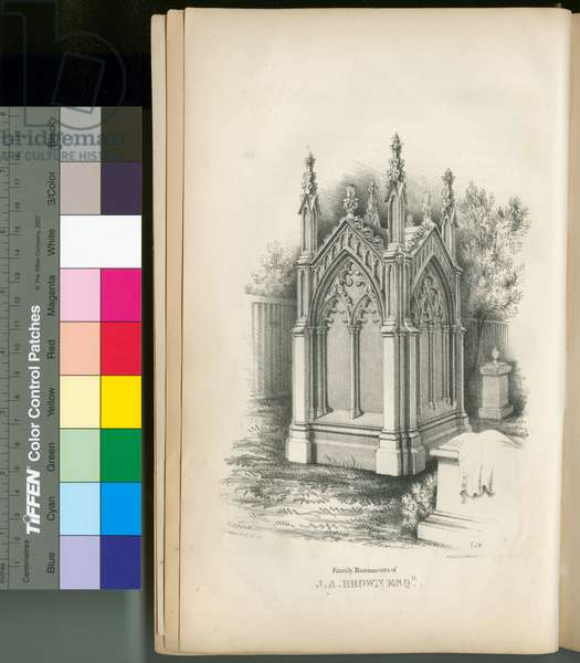 Family monuments of J.A. Brown Esqr., 1844 (litho)