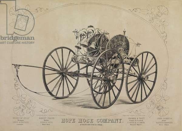 Hope Hose Company. Instituted 1805, c.1855 (litho)