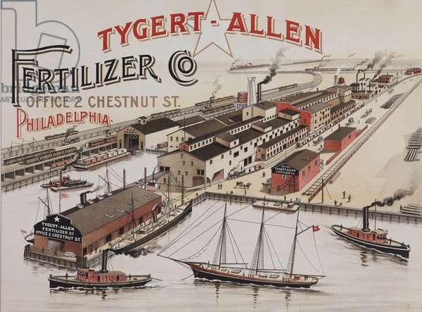 Advertisement for Tygert-Allen Fertilizer Co., Philadelphia, c.1890 (chromolitho)