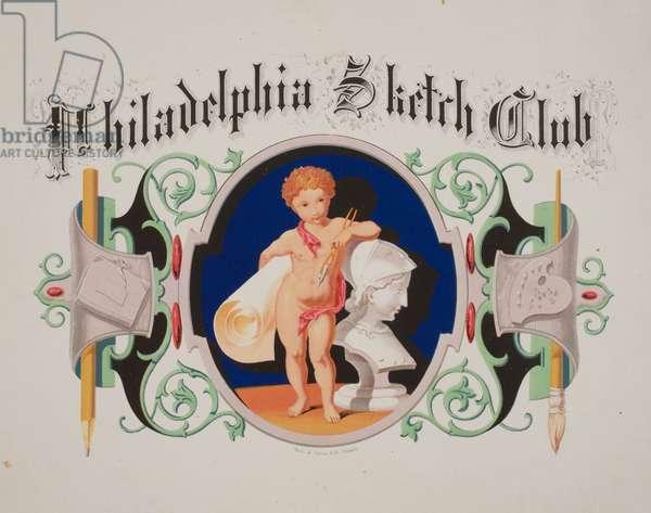 Philadelphia Sketch Club, printed by Stein & Jones, c.1865 (chromolitho mounted on album page)