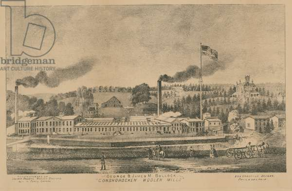 "George & James M. Bullock, ""Conshohocken Woolen Mills"", c.1875 (litho)"