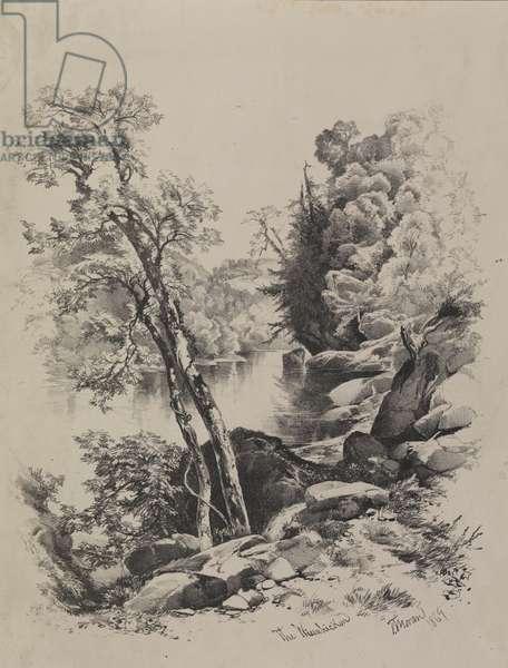 The Wissahickon, 1869 (litho)