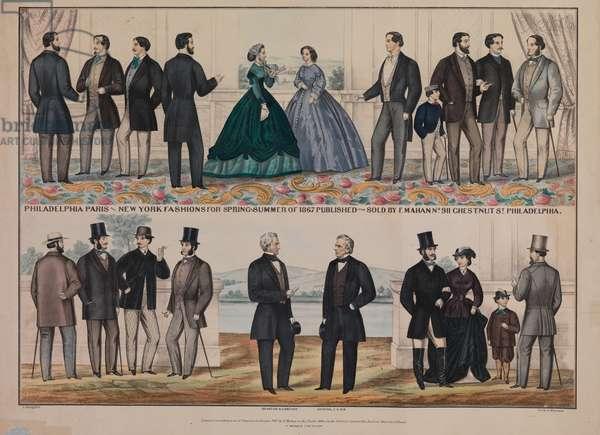 Philadelphia Paris & New York fashions for spring & summer of 1867, 1867 (litho)