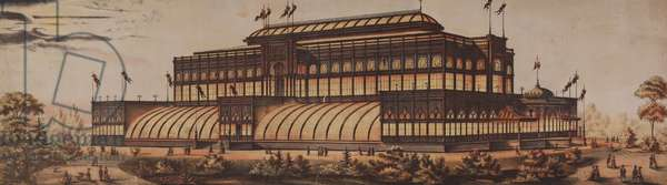 3. Horticultural Hall from 'The great American Centennial Exhibition puzzle blocks, in sectional parts', 1875 (chromolitho mounted on wood)