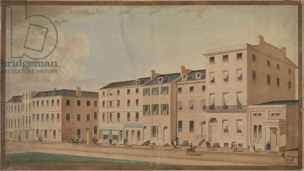 South Side of Walnut Street west of Third Street, Philadelphia, c.1837 (w/c)