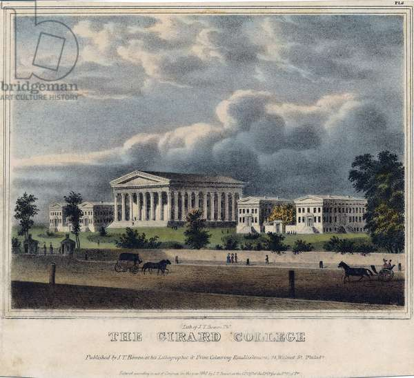 The Girard College, Philadelphia, printed by John Collins, 1838 (litho)