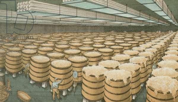 Fermenting Room, F.A. Poth Brewing Company, Philadelphia, c.1891 (chromolitho)