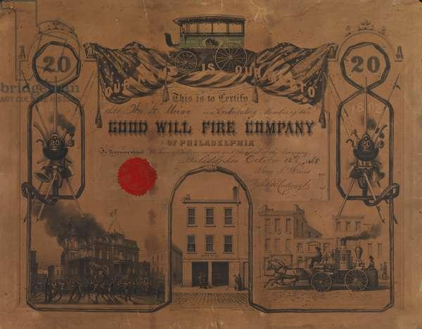 Good Will Fire Company of Philadelphia, c.1867 (litho)