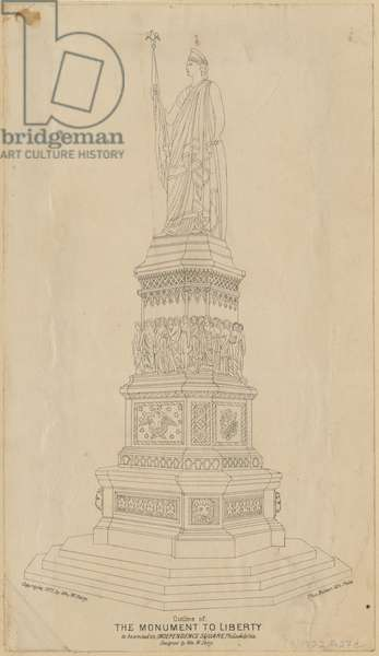 The Monument to Liberty (litho mounted on paper)
