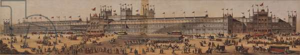 5. The Main Building from 'The great American Centennial Exhibition puzzle blocks, in sectional parts', 1875 (chromolitho mounted on wood)