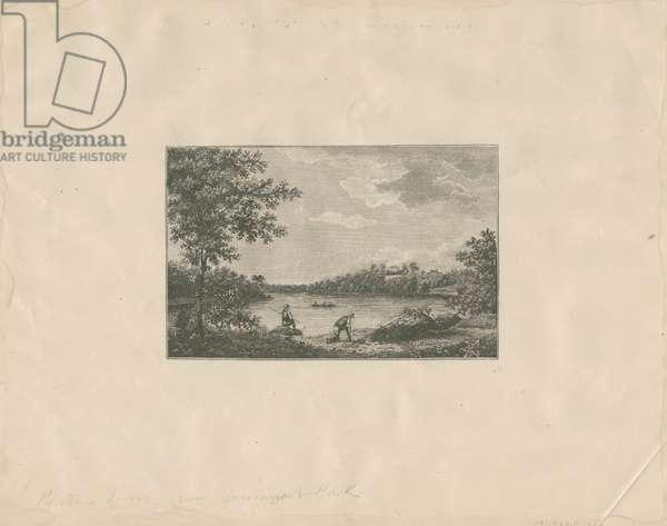 Pratts house now Fairmount Park, c.1880 (transfer litho mounted on paper)
