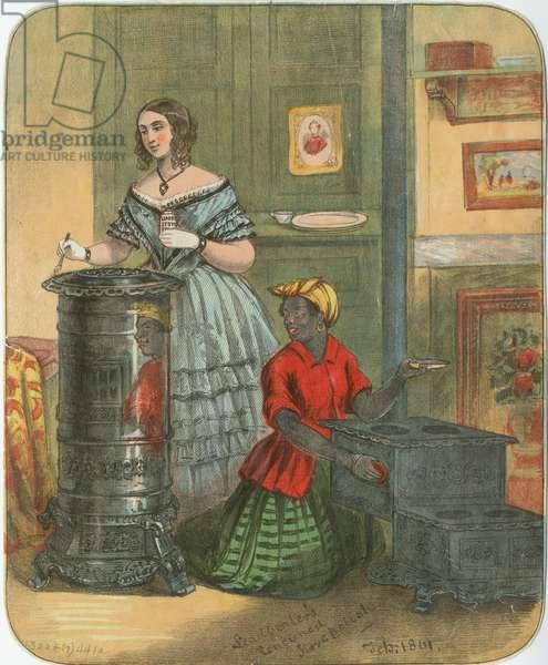 Leadbeater's renouned [sic] stove polish, February 1861 (chromolitho)