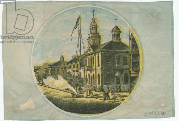 Independence Hall, c.1863 (litho tinted with two stones)