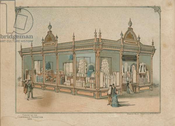 Exhibit at the Centennial Exposition 1876, 1876 (chromolitho)