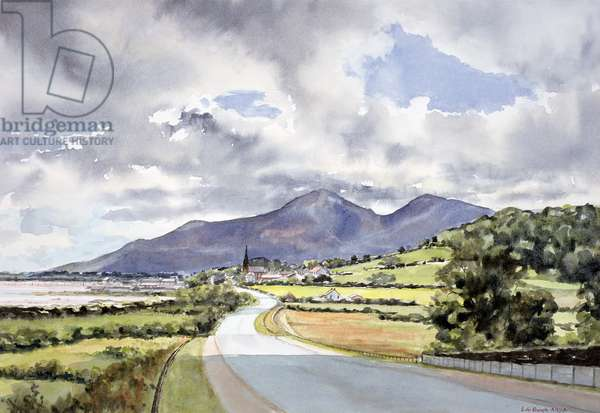 The Mountains of Mourne from near Dundrum (watercolour on paper)