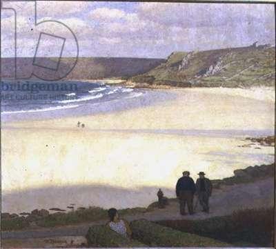 Whitesand Bay (oil on canvas)