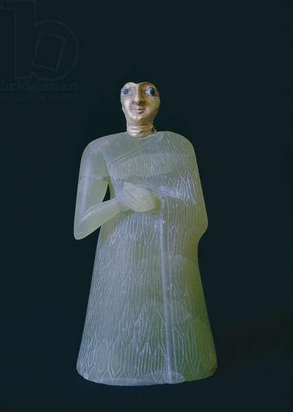 Female figure, from Nippur, c.2700 BC (gypsum & gold)