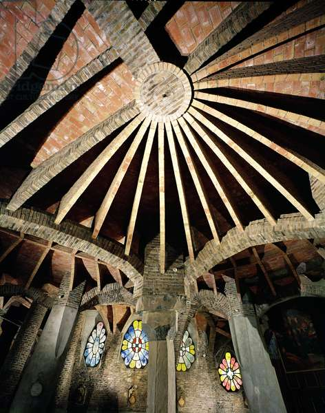 Ceiling of the Guell Crypt, 1908-15