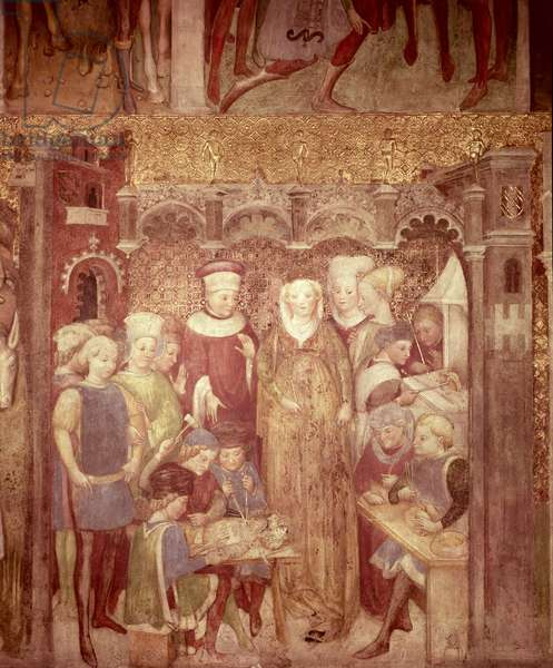 Stories of Queen Theodolinda of the Lombards (fresco)
