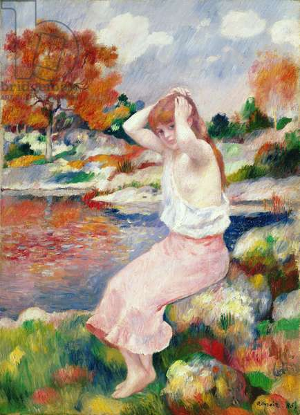 Bather, 1885 (oil on canvas)